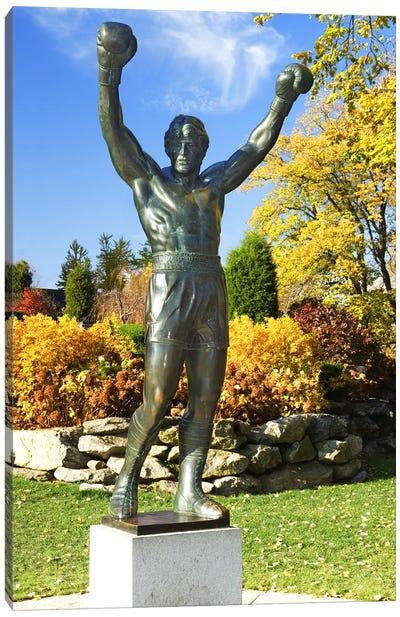 ROCKY Statue, Philadelphia Museum Of Art, Benjamin Franklin Parkway, Philadelphia, Pennsylvania, USA Canvas Art Print
