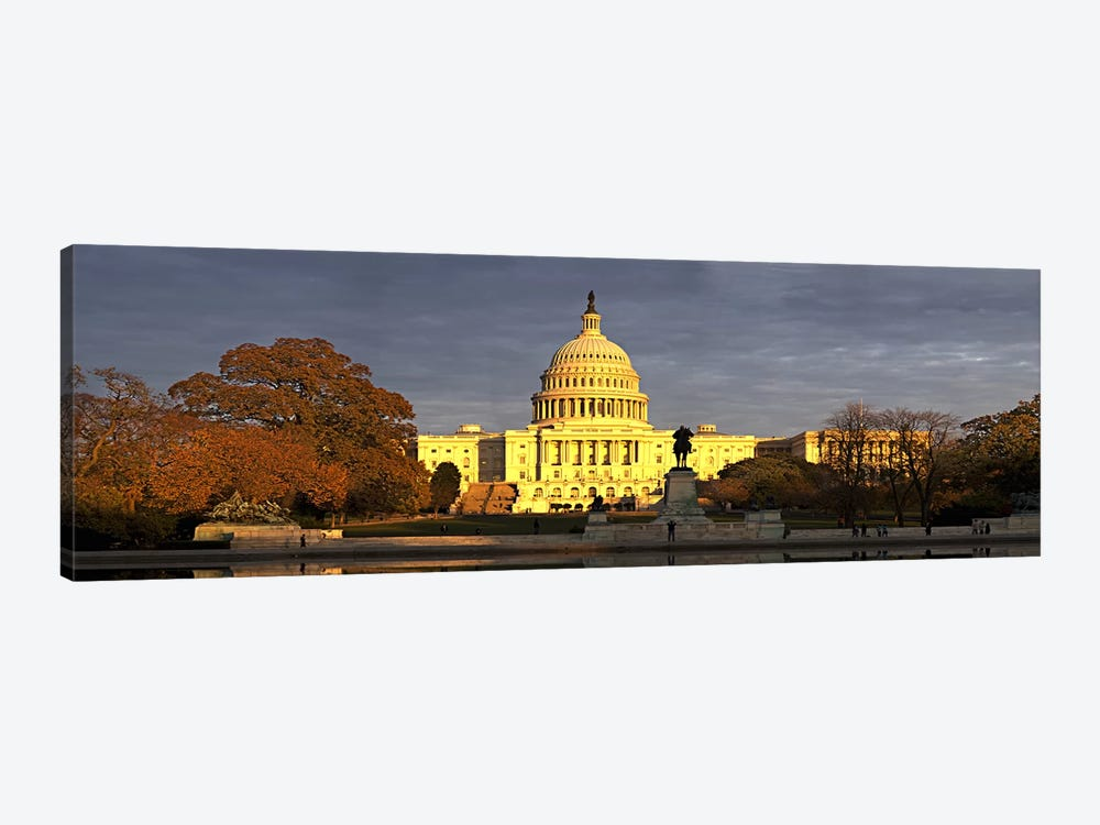 Pond in front of a government building, Capitol Building, Washington DC, USA by Panoramic Images 1-piece Canvas Art