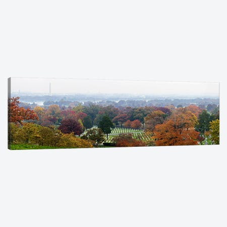 High angle view of a cemetery, Arlington National Cemetery, Washington DC, USA Canvas Print #PIM6038} by Panoramic Images Canvas Print