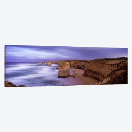 Rock formations in the sea, Twelve Apostles Sea Rocks, Great Ocean Road, Port Campbell National Park, Port Campbell, Victoria, Australia Canvas Print #PIM6039} by Panoramic Images Art Print