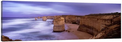 Rock formations in the sea, Twelve Apostles Sea Rocks, Great Ocean Road, Port Campbell National Park, Port Campbell, Victoria, A Canvas Art Print