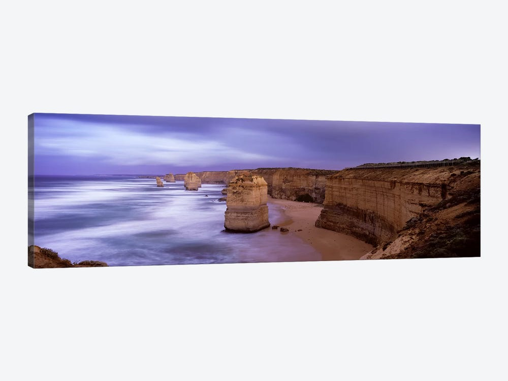 Rock formations in the sea, Twelve Apostles Sea Rocks, Great Ocean Road, Port Campbell National Park, Port Campbell, Victoria, A by Panoramic Images 1-piece Canvas Wall Art