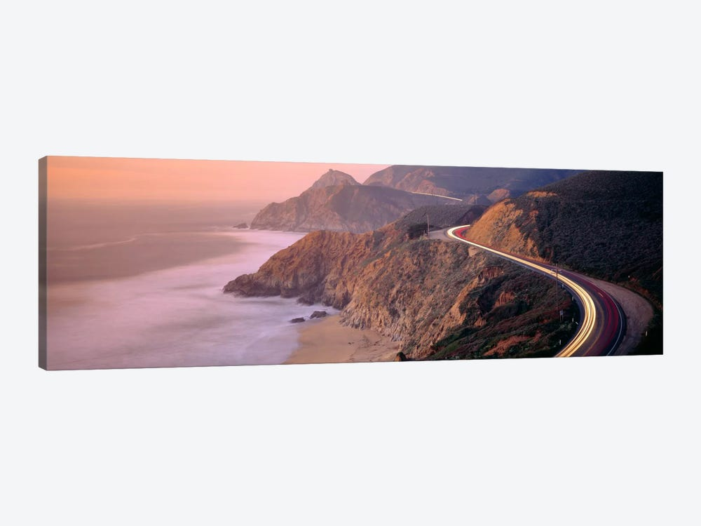 Dusk Highway 1 Pacific Coast CA USA by Panoramic Images 1-piece Art Print