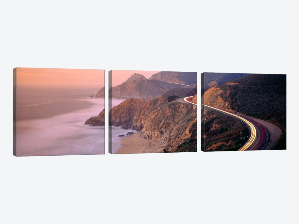 Dusk Highway 1 Pacific Coast CA USA by Panoramic Images 3-piece Canvas Art Print