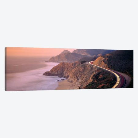 Dusk Highway 1 Pacific Coast CA USA 3-Piece Canvas #PIM603} by Panoramic Images Canvas Art