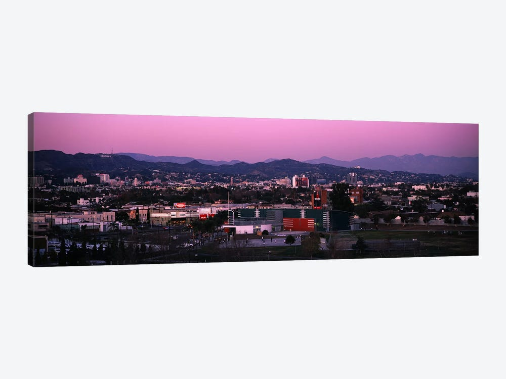High angle view of an observatory in a city, Griffith Park Observatory, City of Los Angeles, California, USA by Panoramic Images 1-piece Canvas Art
