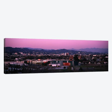High angle view of an observatory in a city, Griffith Park Observatory, City of Los Angeles, California, USA Canvas Print #PIM6044} by Panoramic Images Canvas Print