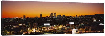 High angle view of buildings in a city, Century City, City of Los Angeles, California, USA Canvas Print #PIM6045