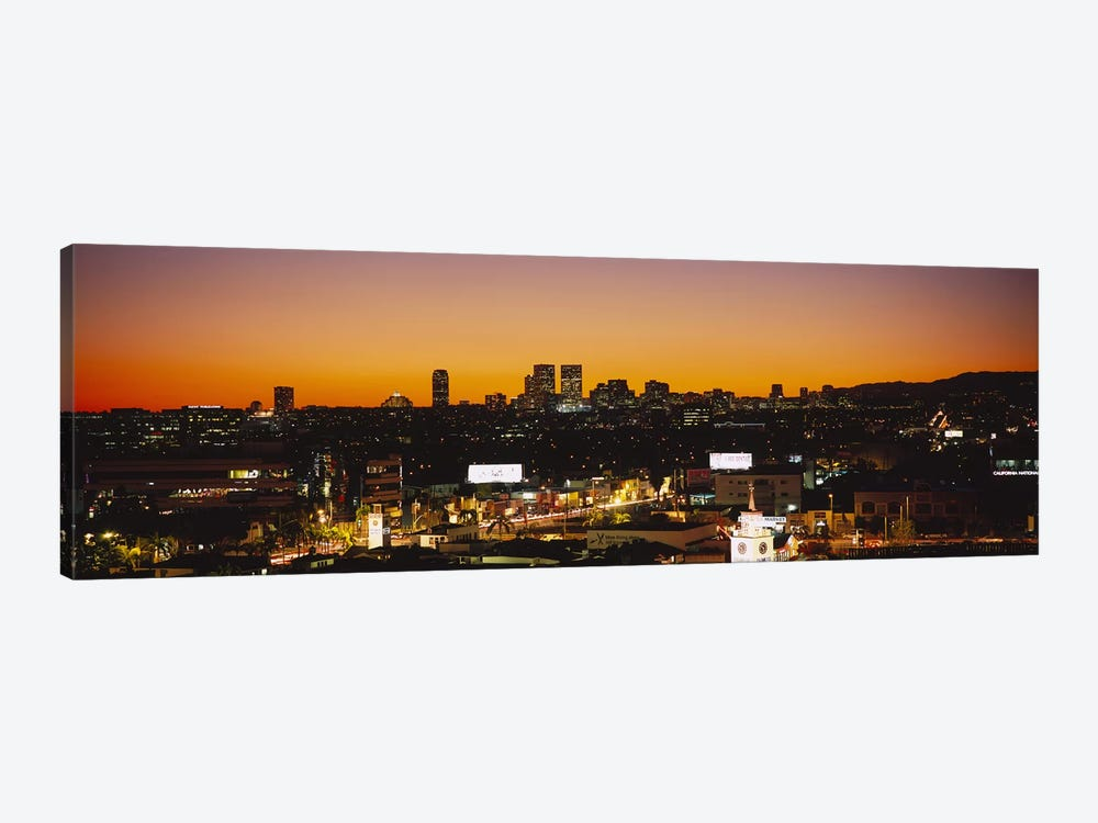 High angle view of buildings in a city, Century City, City of Los Angeles, California, USA 1-piece Canvas Art Print