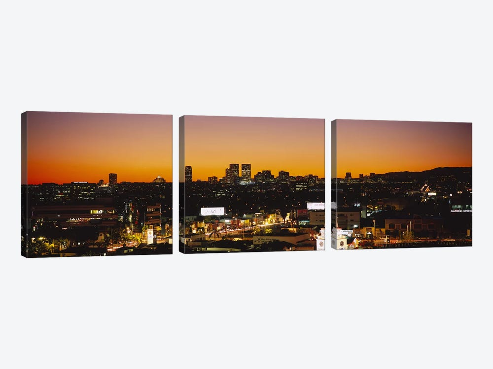 High angle view of buildings in a city, Century City, City of Los Angeles, California, USA by Panoramic Images 3-piece Canvas Art Print