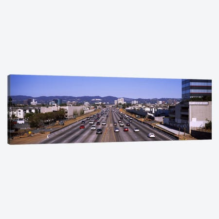 High angle view of cars on the road, 405 Freeway, City of Los Angeles, California, USA Canvas Print #PIM6046} by Panoramic Images Canvas Print