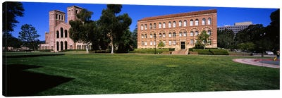 Lawn in front of a Royce Hall and Haines Hall, University of California, City of Los Angeles, California, USA Canvas Print #PIM6047