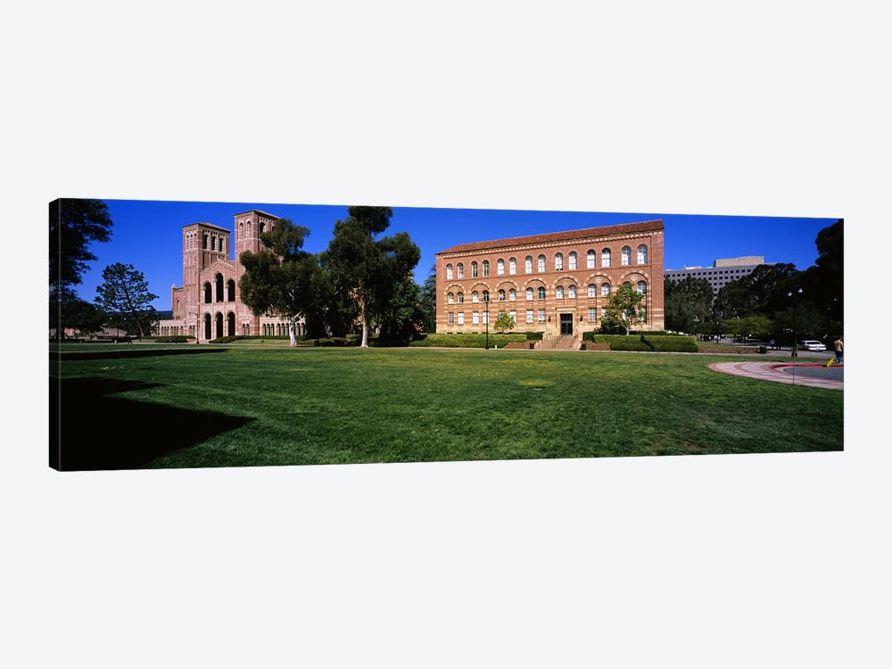 Lawn in front of a Royce Hall and Haines Hall, University of California, City of Los Angeles, California, USA by Panoramic Images 1-piece Canvas Print