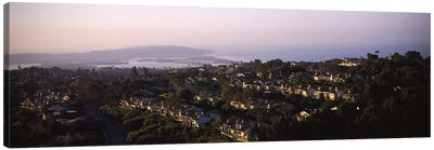 High angle view of buildings in a city, Mission Bay, La Jolla, Pacific Beach, San Diego, California, USA Canvas Print #PIM6048