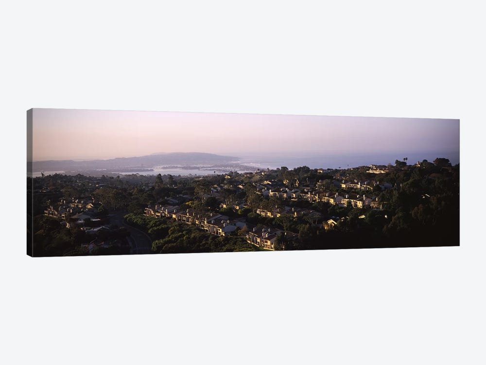 High angle view of buildings in a city, Mission Bay, La Jolla, Pacific Beach, San Diego, California, USA by Panoramic Images 1-piece Canvas Wall Art