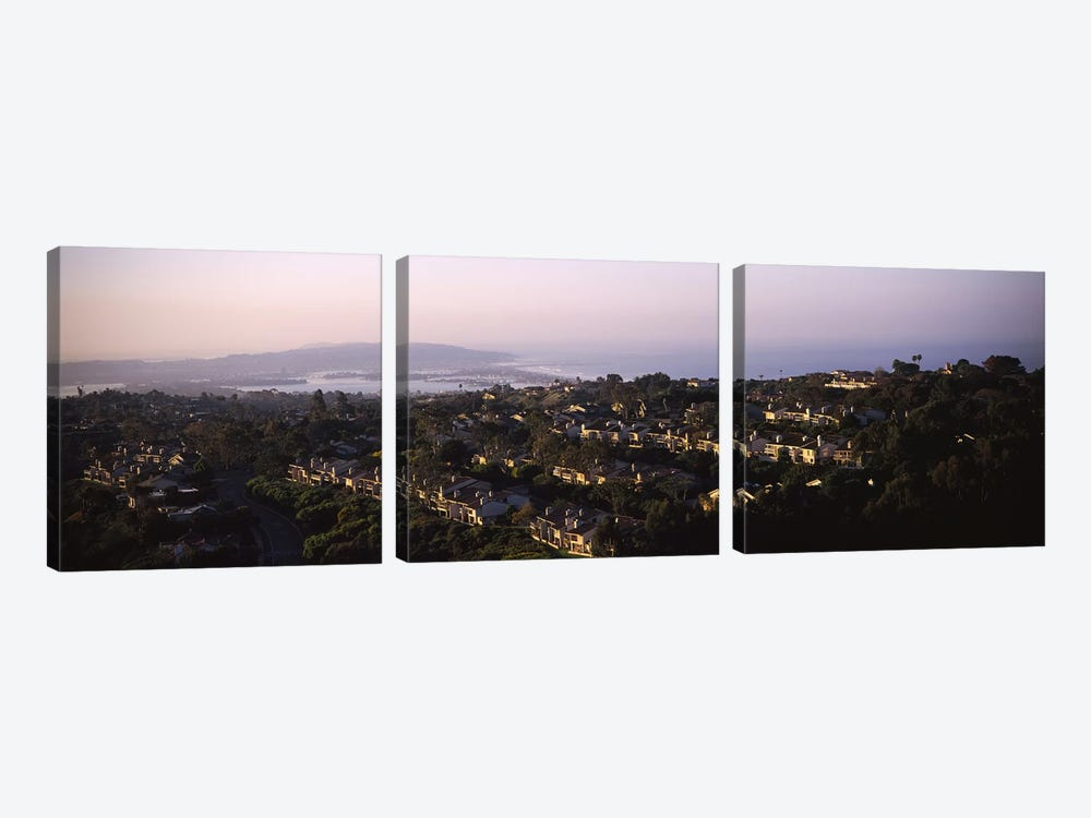 High angle view of buildings in a city, Mission Bay, La Jolla, Pacific Beach, San Diego, California, USA by Panoramic Images 3-piece Canvas Artwork