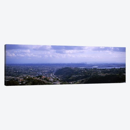 High angle view of a bridge, Coronado Bridge, San Diego, California, USA Canvas Print #PIM6049} by Panoramic Images Canvas Wall Art