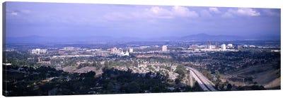 High angle view of a temple in a cityMormon Temple, La Jolla, San Diego, California, USA Canvas Print #PIM6051
