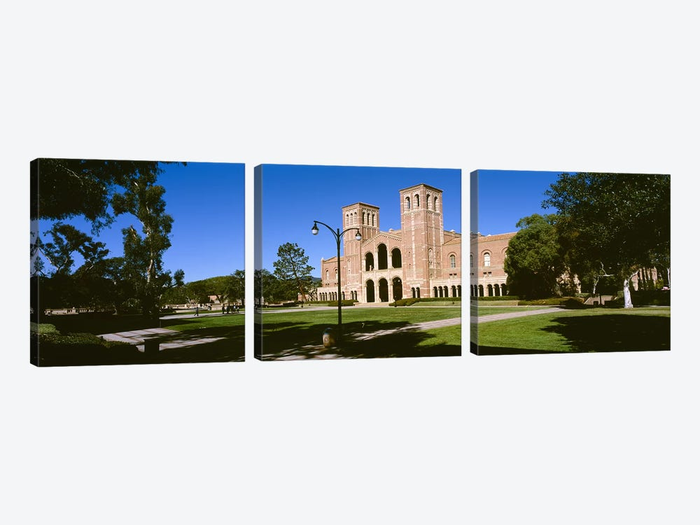 Facade of a buildingRoyce Hall, City of Los Angeles, California, USA by Panoramic Images 3-piece Canvas Art Print