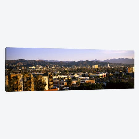 High angle view of buildings in a cityHollywood, City of Los Angeles, California, USA Canvas Print #PIM6053} by Panoramic Images Canvas Art Print