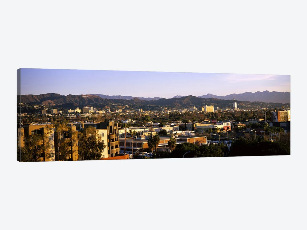High angle view of buildings in a cityHollywood, City of Los Angeles, California, USA by Panoramic Images 1-piece Canvas Art