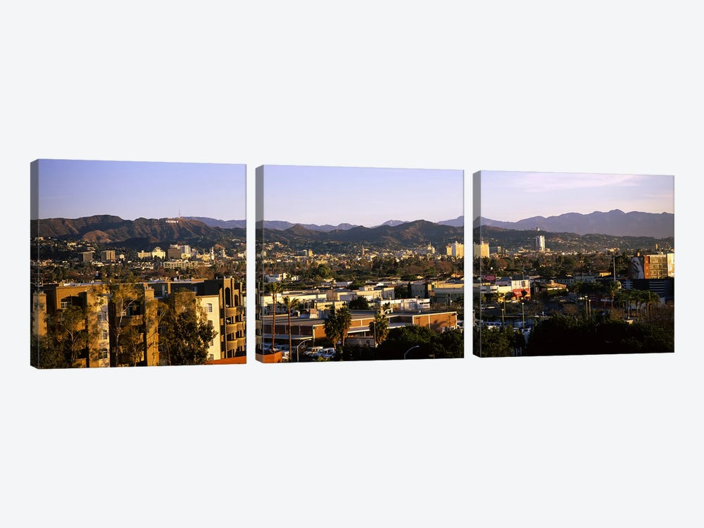 High angle view of buildings in a cityHollywood, City of Los Angeles, California, USA by Panoramic Images 3-piece Canvas Art