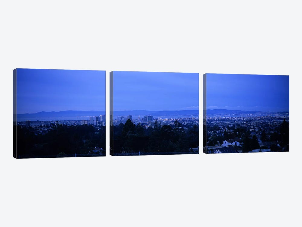 High angle view of buildings in a cityOakland, California, USA by Panoramic Images 3-piece Canvas Art Print