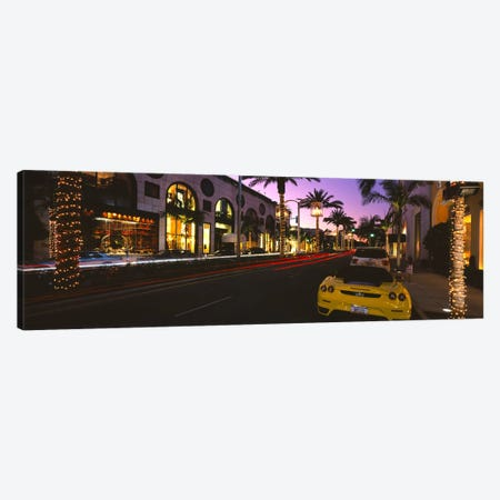 Cars parked on the roadRodeo Drive, City of Los Angeles, California, USA 3-Piece Canvas #PIM6056} by Panoramic Images Canvas Art