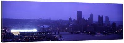 Buildings in a cityHeinz Field, Three Rivers Stadium, Pittsburgh, Pennsylvania, USA Canvas Print #PIM6058