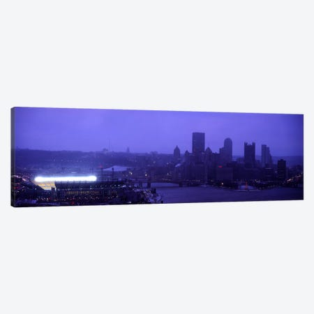 Buildings in a cityHeinz Field, Three Rivers Stadium, Pittsburgh, Pennsylvania, USA Canvas Print #PIM6058} by Panoramic Images Canvas Print