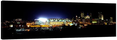 Stadium lit up at night in a cityHeinz Field, Three Rivers Stadium, Pittsburgh, Pennsylvania, USA Canvas Art Print