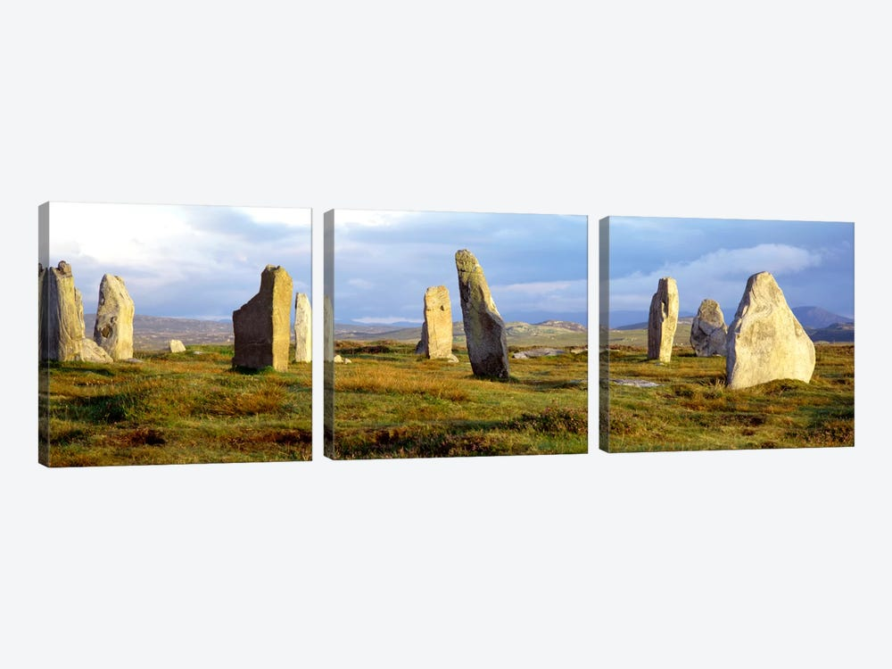 Callanish Stones, Isle Of Lewis, Outer Hebrides, Scotland, United Kingdom by Panoramic Images 3-piece Canvas Art Print
