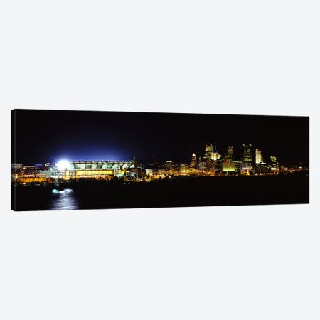 Stadium lit up at night in a cityHeinz Field, Three Rivers Stadium,Pittsburgh, Pennsylvania, USA Canvas Print #PIM6060} by Panoramic Images Canvas Artwork
