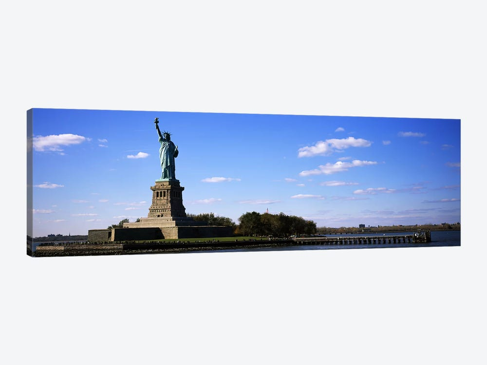 Statue viewed through a ferryStatue of Liberty, Liberty State Park, Liberty Island, New York City, New York State, USA by Panoramic Images 1-piece Canvas Artwork
