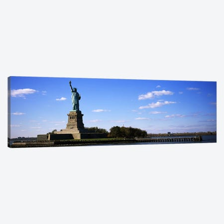 Statue viewed through a ferryStatue of Liberty, Liberty State Park, Liberty Island, New York City, New York State, USA Canvas Print #PIM6064} by Panoramic Images Art Print