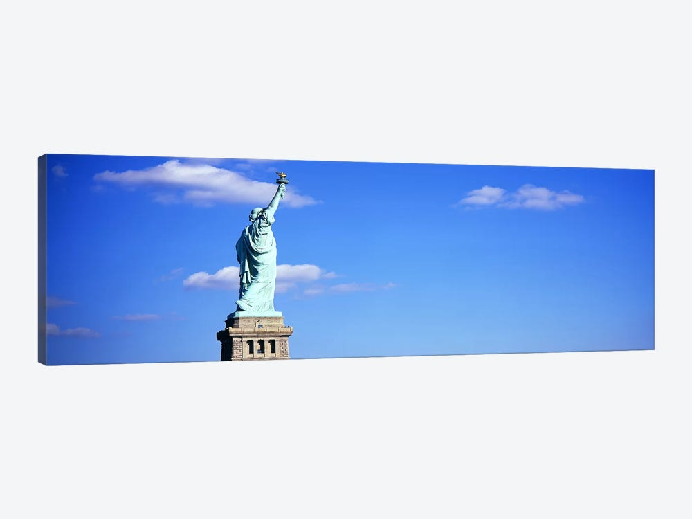 Low angle view of a statueStatue of Liberty, Liberty State Park, Liberty Island, New York City, New York State, USA by Panoramic Images 1-piece Canvas Art Print