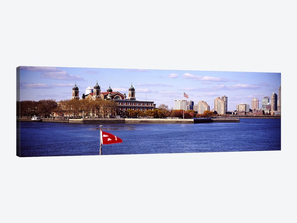 Ellis Island, Upper New York Bay by Panoramic Images 1-piece Canvas Wall Art