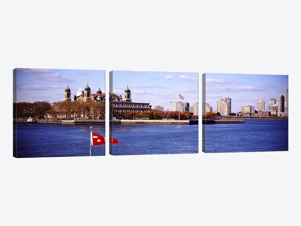 Ellis Island, Upper New York Bay by Panoramic Images 3-piece Canvas Art
