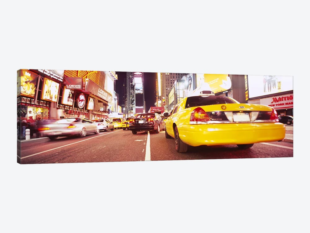 Traffic on the roadTimes Square, Manhattan, New York City, New York State, USA by Panoramic Images 1-piece Art Print