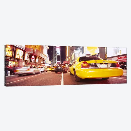 Traffic on the roadTimes Square, Manhattan, New York City, New York State, USA Canvas Print #PIM6067} by Panoramic Images Canvas Print