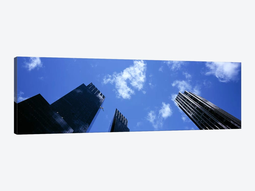 Low angle view of skyscrapersColumbus Circle, Manhattan, New York City, New York State, USA by Panoramic Images 1-piece Art Print
