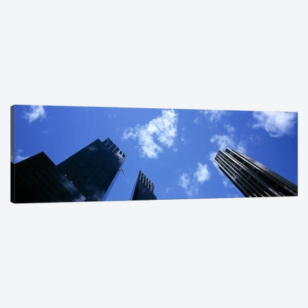 Low angle view of skyscrapersColumbus Circle, Manhattan, New York City, New York State, USA Canvas Print #PIM6072} by Panoramic Images Art Print