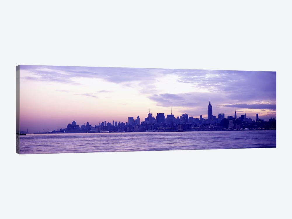 Skyscrapers at the waterfront, at sunriseManhattan, New York City, New York State, USA by Panoramic Images 1-piece Canvas Wall Art