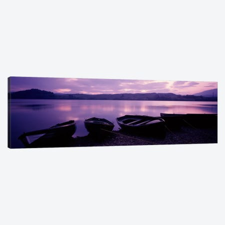 Sunset Fishing Boats Loch Awe Scotland Canvas Print #PIM607} by Panoramic Images Canvas Art Print