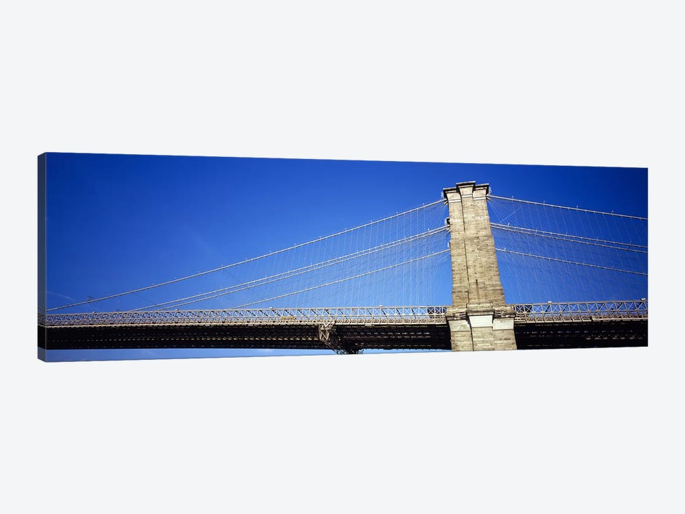 Low angle view of a bridgeBrooklyn Bridge, Manhattan, New York City, New York State, USA by Panoramic Images 1-piece Canvas Artwork