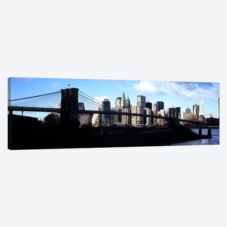 Skyscrapers at the waterfront, Brooklyn Bridge, East River, Manhattan, New York City, New York State, USA Canvas Print #PIM6081} by Panoramic Images Canvas Art