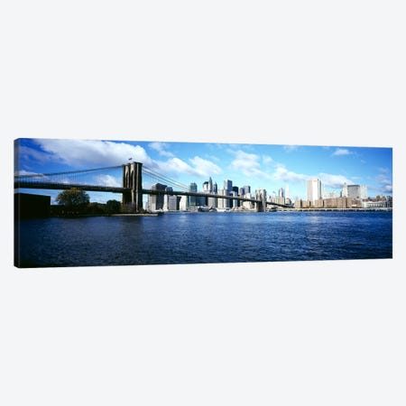 Bridge across a river, Brooklyn Bridge, East River, Manhattan, New York City, New York State, USA Canvas Print #PIM6082} by Panoramic Images Canvas Art