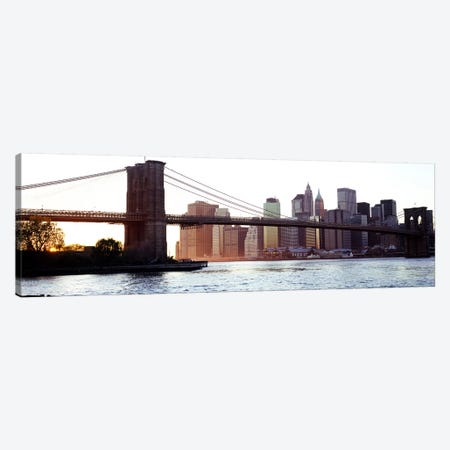 Bridge across a river, Brooklyn Bridge, East River, Manhattan, New York City, New York State, USA #2 Canvas Print #PIM6083} by Panoramic Images Canvas Wall Art