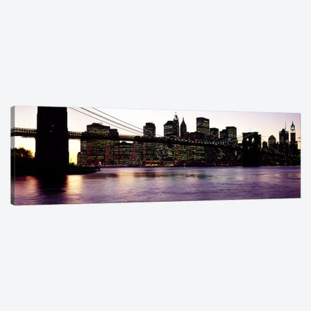 Bridge across a river, Brooklyn Bridge, East River, Manhattan, New York City, New York State, USA #3 Canvas Print #PIM6084} by Panoramic Images Canvas Print