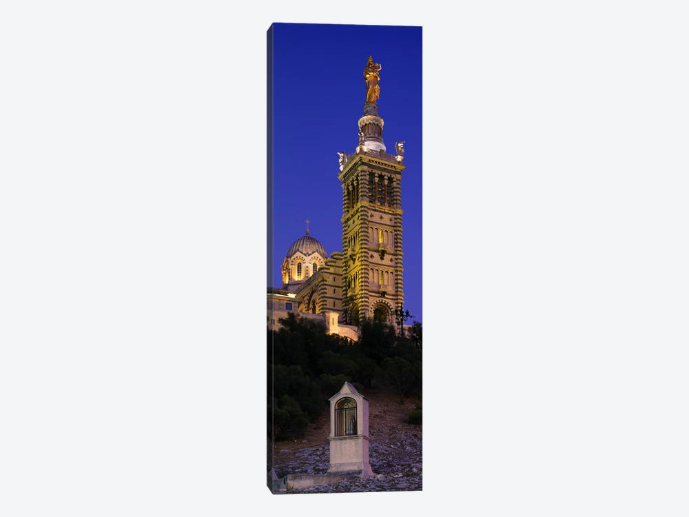 Low angle view of a tower of a church, Notre Dame De La Garde, Marseille, France by Panoramic Images 1-piece Art Print